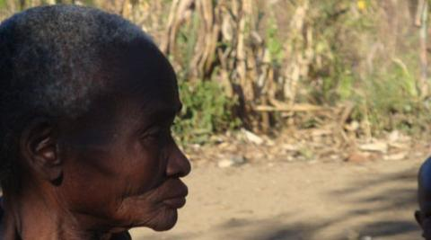 Aliness, an elderly woman suffering with Malaria