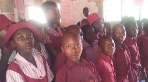 Children at Zimbabwean primary school