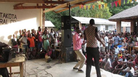 Talent, awareness raising and testing show in Nkhota-koa, Malawi