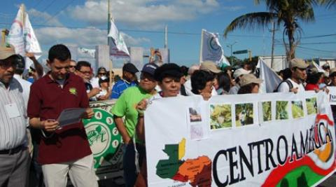 Climate justice campaigners at 2010 climate summit in Cancun