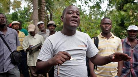 Gabriel Petit-Homme in Lamine, Haiti