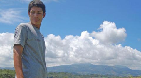 Alexander Martínez, 25, farms in El Corazal, Usulután, El Salvador