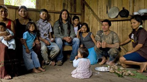 The Wajuyata family in Chiwitayo, Ecuador