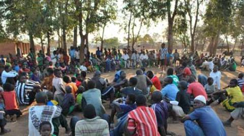 HIV awareness event attended by Progressio ICS volunteers in Malawi