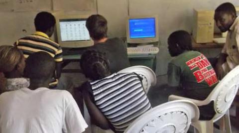 ITC demonstration at Zambezi Technical College Zimbabwe
