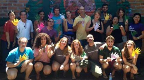 Volunteers at the language school in El Salvador