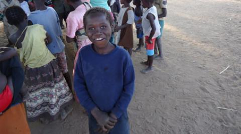 Portrait of a boy in Malawi