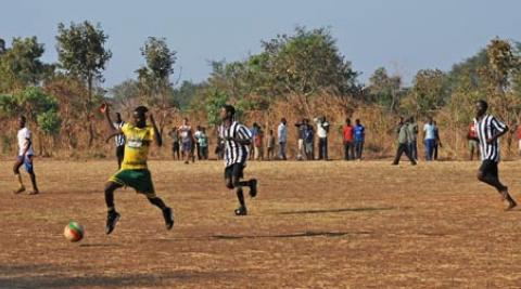 A football match in Malawi