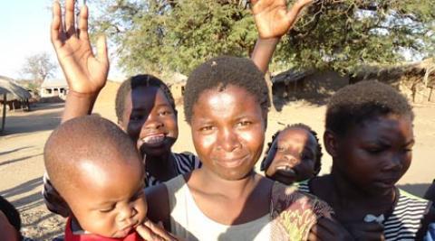 Women and children in Malawi