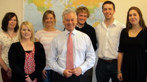 ICS volunteers meet International Development Minister Alan Duncan