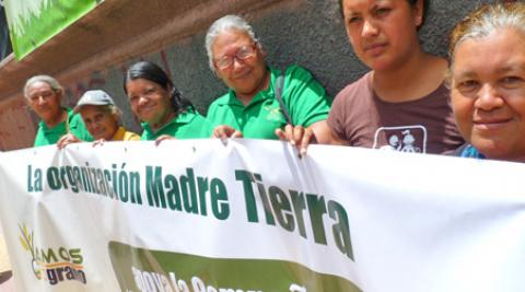 Members of the Mother Earth Movement in Tegucigalpa, Honduras
