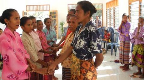 Women take part in workshops on economic empowerment in Oe-cusse, Timor-Leste.
