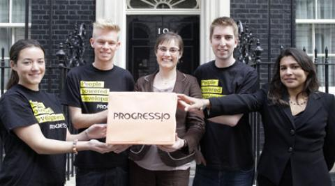 Petition hand-in to Number 10