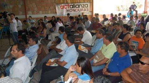 Participants at a Honduras forum on climate change