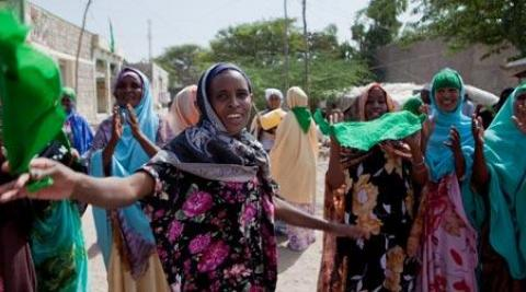 Women in Somaliland campaigning during the 2010 Presidential elections