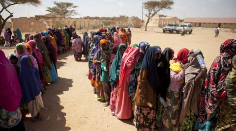 Women queue up to vote in Somalliland's local elections 28 November 2012