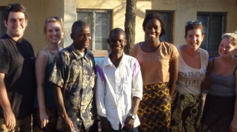 ICS volunteers in Malawi