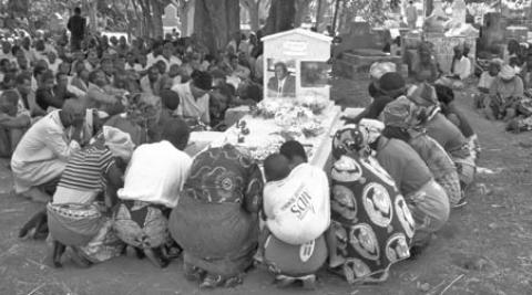 Tombstone unveiling at Dzoole village, Malawi
