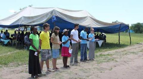 Progressio ICS volunteers at World AIDS Day Binga