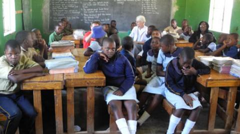A class at Regina Coeli school in Nyanga, Zimbabwe