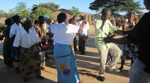 People dancing in Malawi