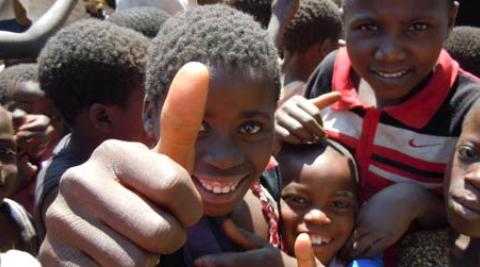 Children in Malawi give ICS the thumbs up