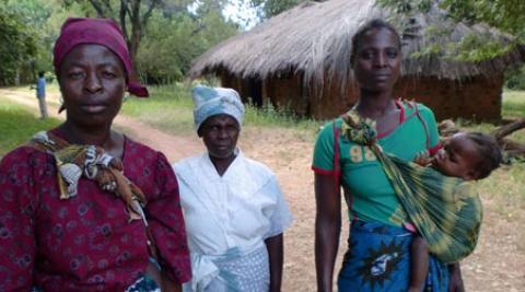 Women villagers in Malawi