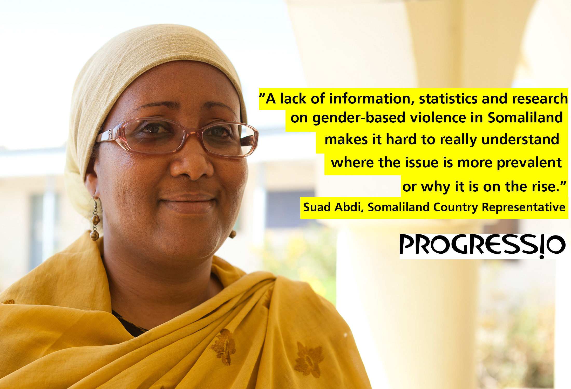 Suad Abdi, Progressio Country Representative for Somaliland