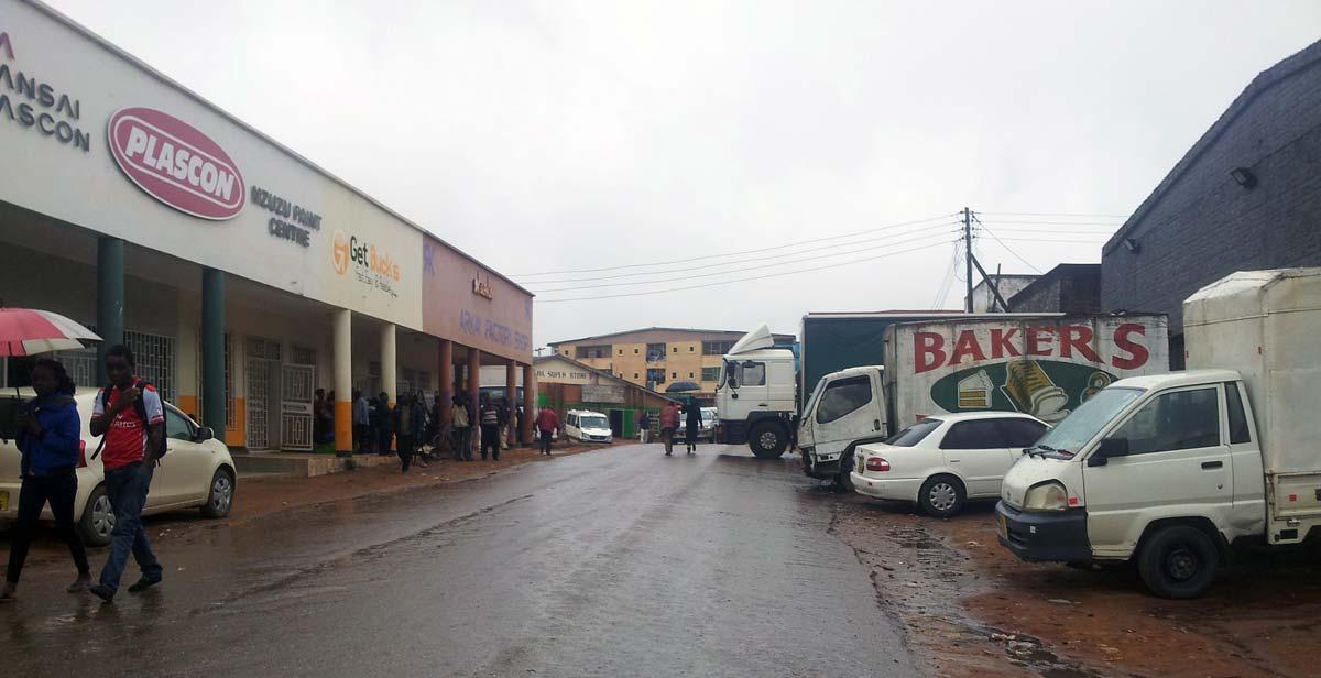 Rainy day in Mzuzu town