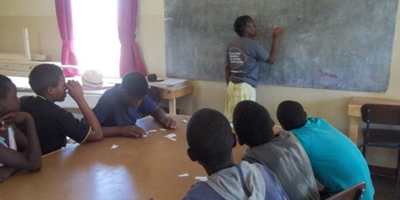 Sandelleh delivers a session to the orphans at the institution