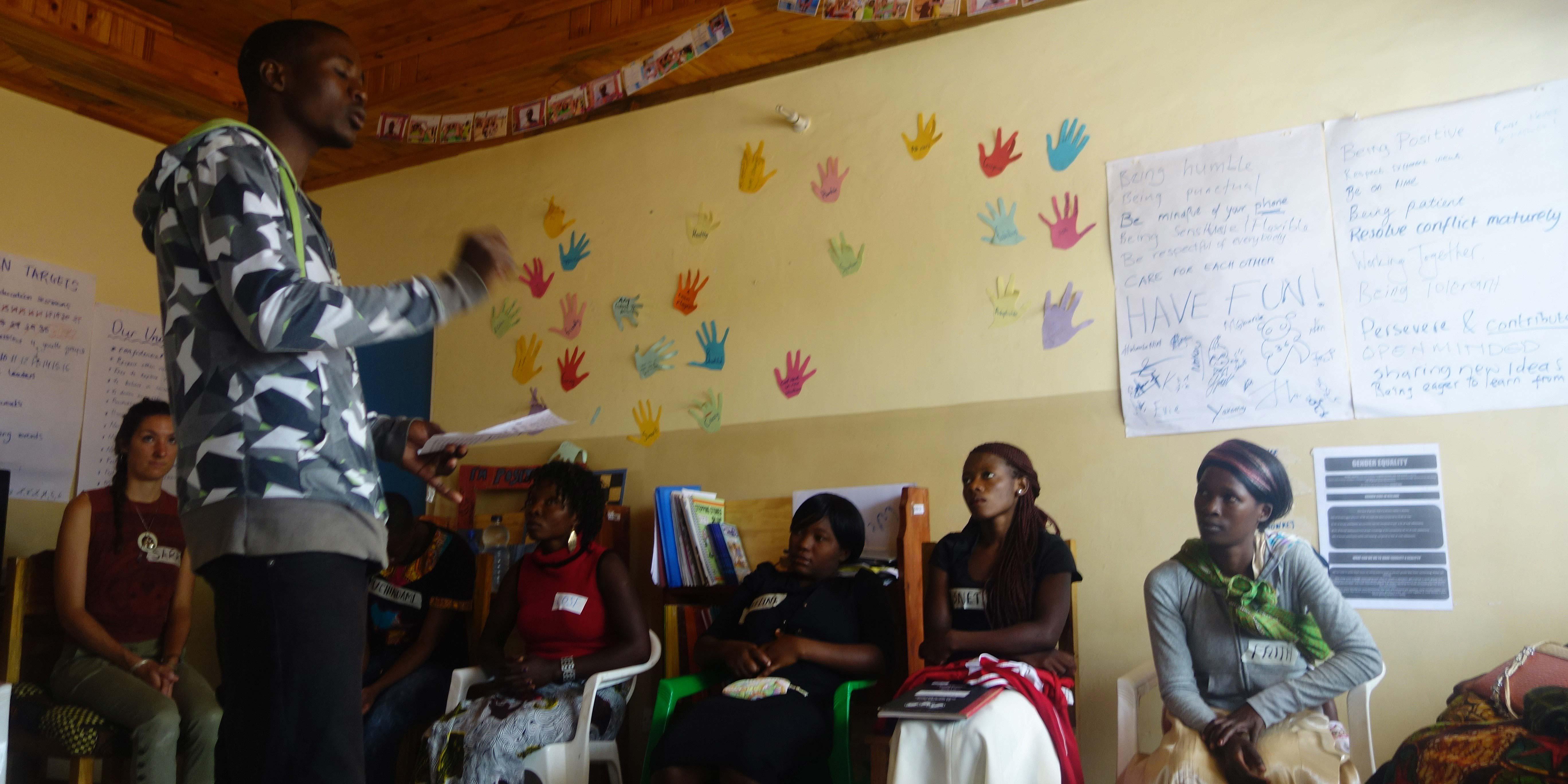 Francis delivering a nutrition workshop